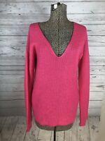 Wilfred Free Wolter Sweater Waffle Knit V Neck Merino Wool Pink Xs Aritzia