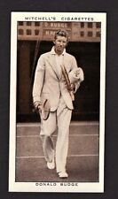 Donald Budge 1935 Mitchell's Cigarettes Tennis Card #37