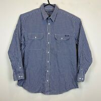 RM Williams Stockyard Blue Check Relaxed Fit Long Sleeve Shirt Ssize XB