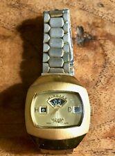 VINTAGE anni 1970 sicura da Breitling Swiss Men's Jump Hour/Orologio Digitale 1 proprietario!
