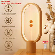 USB Rechargeable LED Table Lamp Ellipse Magnetic Eye-Care Night Light Touch Cont