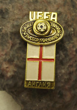 1984 UEFA European Football Championship England Team Soccer Flag Pin Badge
