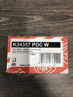 NEW MK Aspect K24357 POC W Single Switched Socket, 1 Gang, Polished Chrome,13A,
