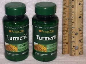 (2) Whole Herb Turmeric, from Puritan's Pride: 200 capsules (total), 400 mg each