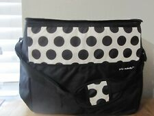 California Innovations Extra Large Insulated Tote Black/White Polka Dot / NWOT