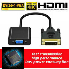 15 Pin Dual Link DVI Male to VGA Female Adapter Cable Converter 1080P 24+1 DVI-D