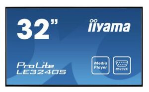 LE3240S-B1 Iiyama 32in LED Large Format Display1920 x 1080 Black 12/7 usage350cd
