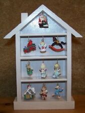 Vintage Collectible Hallmark Shadow Box with Assorted Miniature Ornaments