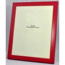 Narrow Bright Red Picture/Photo Frame - Available in various sizes