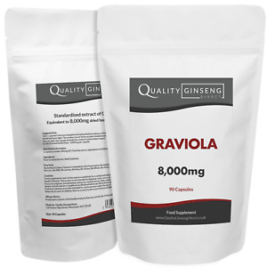 GRAVIOLA - 8,000mg Capsules - Powerful Formula Best Quality on Ebay