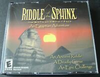RIDDLE OF THE SPHINX AN EGYPTIAN ADVENTURE PC CD ROM VIDEO GAME