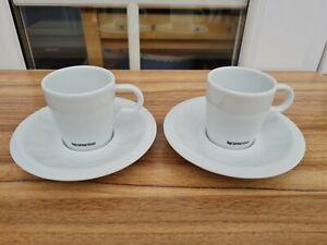Nespresso Professional Espresso Cups & Saucers x 2.