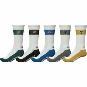 Globe Team Crew Sock 5 Pack Assorted