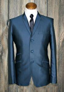mod suit,skinhead suit teal tonic suit 3 button suit slim fit mod suit