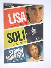 LISA Stefano Sani - SOLI  Drupi - STRANO MOMENTO Soffici 1982 /Spartito musicale