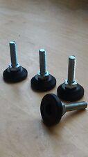 4 Pcs M8 X 30 Réglable Meuble Glissement  Bureau Table Nivellement Pied Leg
