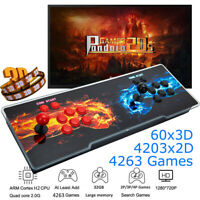 NEW 3D Pandora's Box 20s 4263 In 1 Retro Video Games Arcade Console HDMI USB VGA