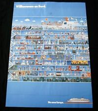 HAMBURG AMERICAN LINE HAPAG SS EUROPA Travel Poster