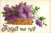 Vintage Early 1900's Embossed Flowered Greeting Postcard UNUSED