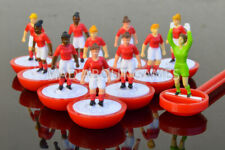 More details for women's subbuteo team red ladiesteam football toy figures soccer miniatures red