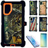 For Samsung Galaxy Note 10/10+ Plus Camo Case Screen Clip Fits Otterbox Defender