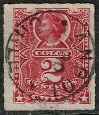 CHILE STAMP # 26 RULETEADO USED CANCEL ANGOL