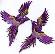 Phoenix phenix birds amethyst purple gold appliques iron-on patches S-1343