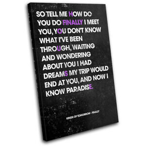 Finally House Music Lyrics DJ Club SINGLE CANVAS WALL ART Picture Print