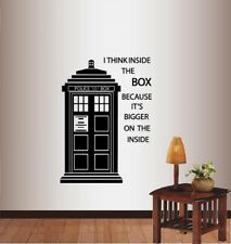 Vinyl Decal Tardis Doctor Who Police Box I Think Inside Box Wall Sticker 1399