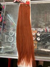 """Red Human Hair Extension Straight 18"""" Orange Red 350 Solid"""
