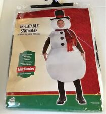 Adult Inflatable Snowman Costume up to Size 42 1pc Jumpsuit