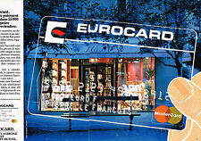 PUBLICITE ADVERTISING 064  1984  EUROCARD MASTERCARD  ( 2 pages) carte de paieme