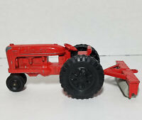 Hubley Red Farm Tractor With Trailer Seeder Sowing ( RARE )
