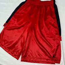 Super Rare Jordan Nike Basketball Shorts Sexy Dazzle Red Black White Large