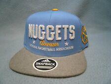 Adidas Denver Nuggets Chain Star BRAND NEW Snapback hat cap NBA 2-Tone