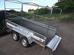 Trailer 9FTx4FT TWIN AXLE Box Small Camping 2,70 x 1,32 m +150cm COVER