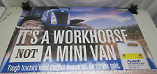 New Holland Tractor Poster Advertisement Ambra Engine Oil 36x24