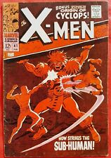 X-Men 41 Marvel Silver Age 1968 Sub-Human