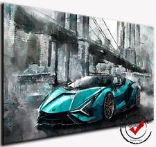 Lamborghini Sian Hypercar Auto Bild Leinwand Wandbild Kunstdrucke Deko Rennwagen