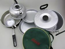 Vintage Coleman Aluminum Mess Kit Great For Camping