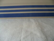 Retro Vintage TG blue and white striped ceramic baking dish stripes
