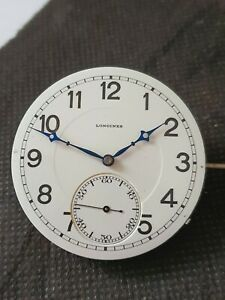 Perfect Longines 19.70N pocket watch movemenet with perfect dial, working