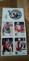 1992/93 Kraft Singles All-Star Stanley Cup UNCUT Panel Lemieux,Jagr,Hull,Linden