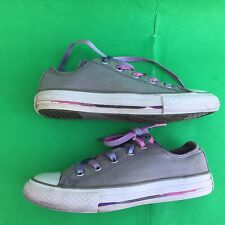 CONVERSE ALL STAR junior's  gray canvas walking shoes size--1