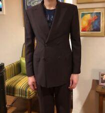 Salvatore Ferragamo purple double-breasted suit; 52 EU; 36 US; very lightly worn