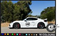2X BIG Custom Race Rally Numbers Door Window sticker motorsport JDM trackday car