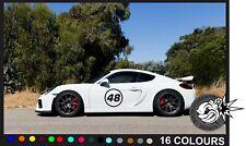 2X BIG Custom Race Rally Numbers Door Window sticker motorsport  track day car