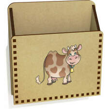 'Happy Cow' Wooden Letter Holder / Box (LH00042372)