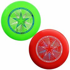 NEW Discraft ULTRA-STAR 175g Ultimate Frisbee Disc (2 Pack) GREEN/RED