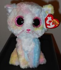 "Ty Beanie Boos ~ FLUFFY the 6"" Cat (2018 Claire's Exclusive) NEW ~ FREE SHIPPING"